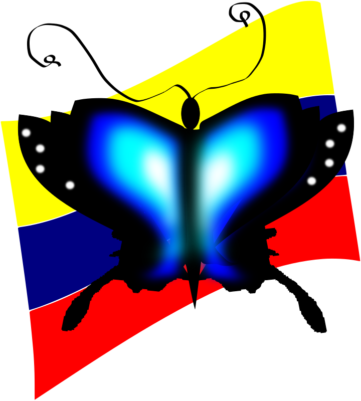 Butterfly by Sebas - A fun butterfly on Colombia flag