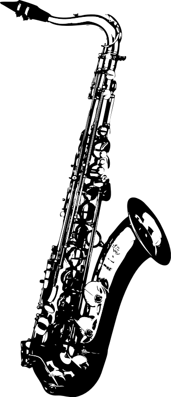 Tenor Saxophone by johnny_automatic - a high contrast image of a saxophone