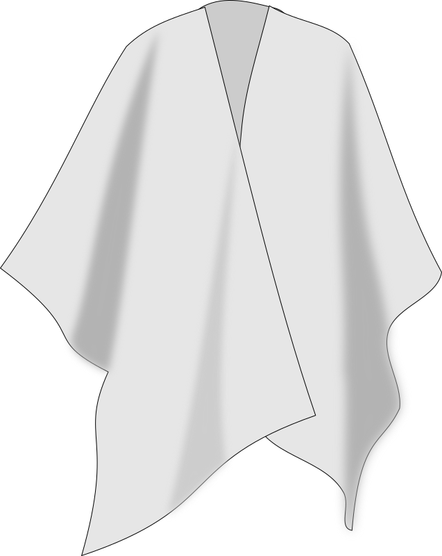 ruana colombiana / Columbian poncho by hpimienta - A white poncho worn in Colombia