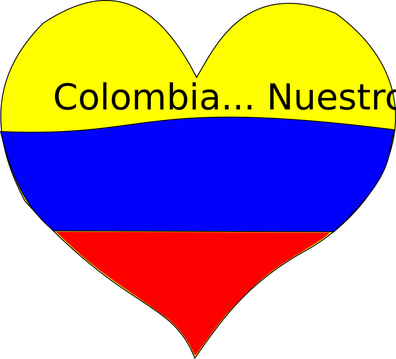Corazon colombiano by Esteban - A heart as Colombian flag