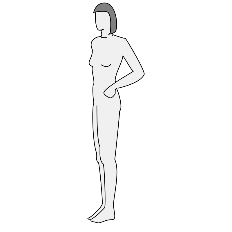 Female body silhouette - side by nicubunu - Side view of a female body silhouette