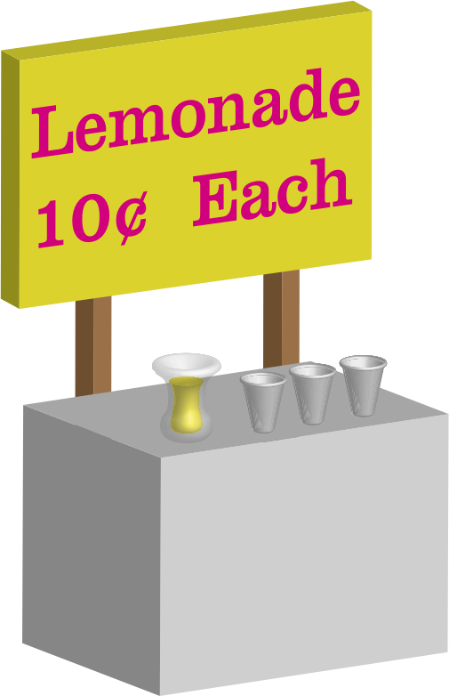 Lemonade Stand by jhnri4 - A lemonade stand made from scratch in Adobe Illustrator.