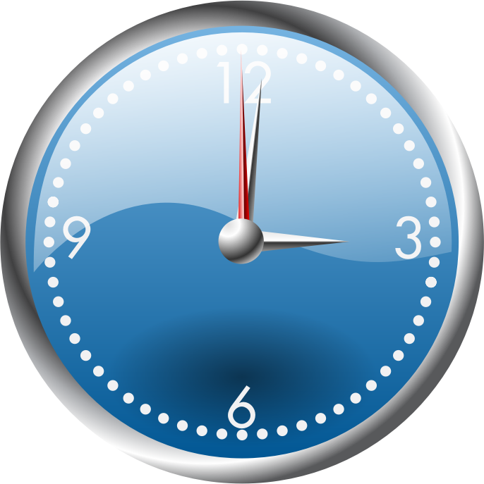 A blue and chrome clock by jhnri4