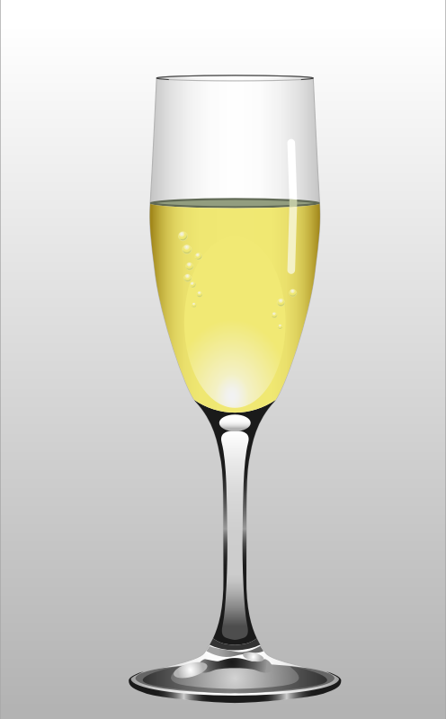 Glass of Champagne by Muga - Glass of Champagne