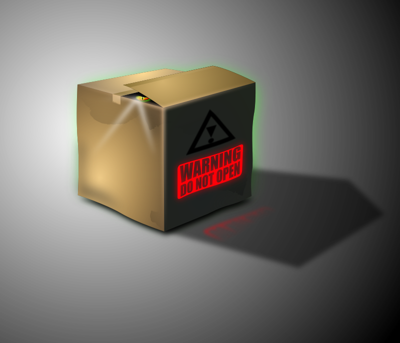 Dangerous Box by lekamie - There is some creepy things in the Box, be careful!