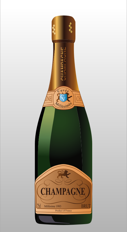 Bottle of Champagne by Muga