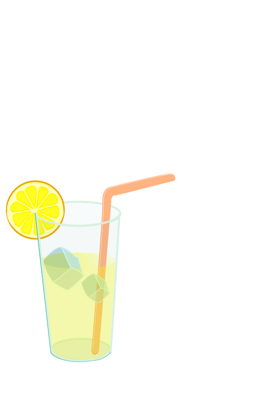 Clipart - Lemonade glass remix