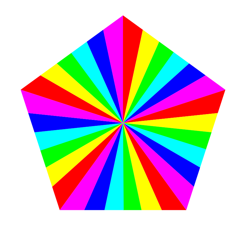 6 color pentagon by 10binary