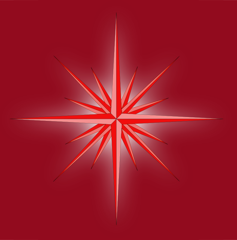 Glowing Fantasy Star (Cool) by mystica - I´ll remember when i was young and drawing these star´s on paper, well! not glowing... it was fun :-) But it is also fun to do them in InkScape  ;-) Enjoy!!! :-)