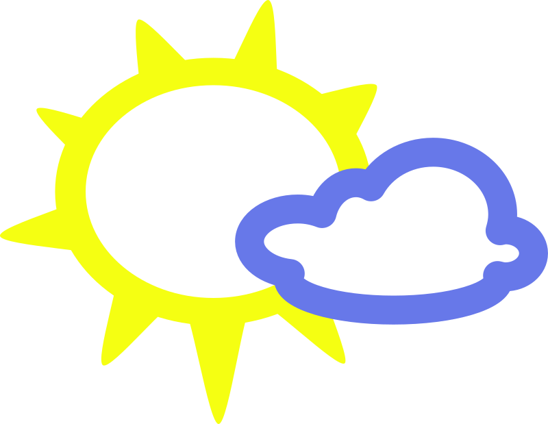 simple weather symbols by Anonymous - A sun and clouds weather icon.
