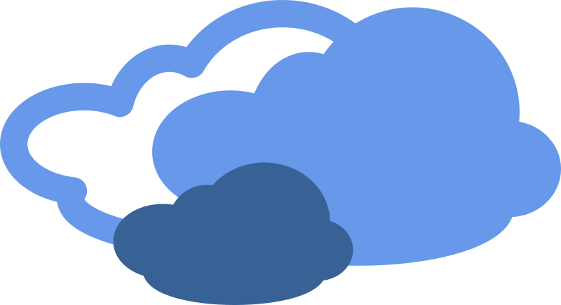 simple weather symbols by Anonymous - A cloud weather icon.