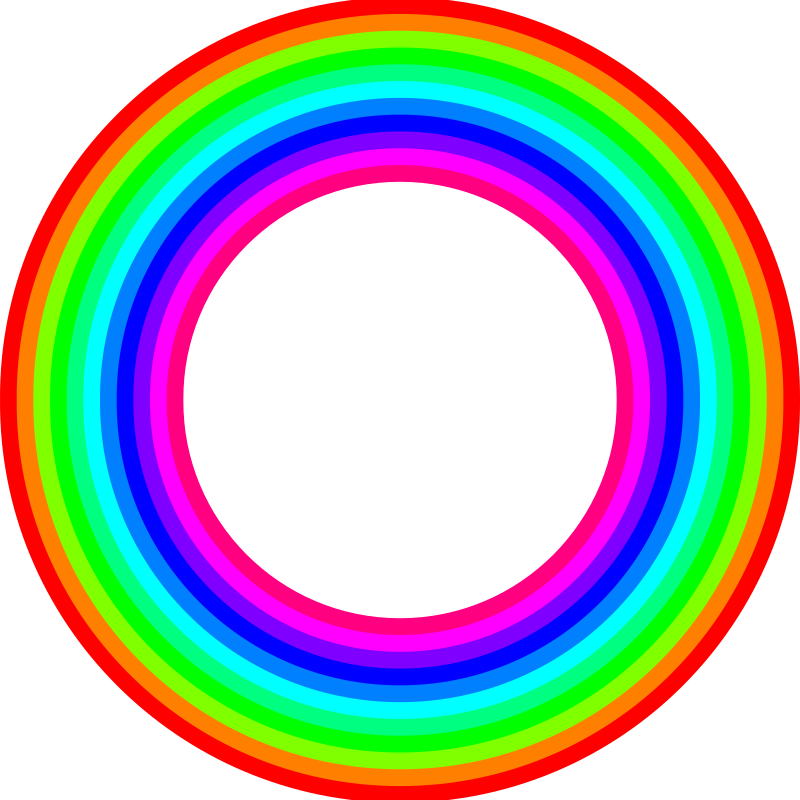 12 color rainbow donut by 10binary