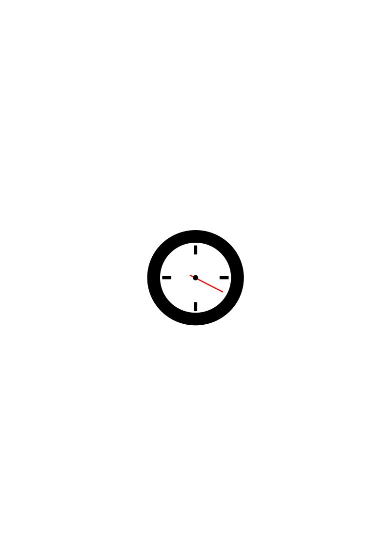 Second Clock by progformer - A clock that counts only seconds.