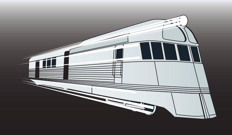 1936 Pioneer Zephyr by johnny_automatic - drawing of a classic streamline moderne train
