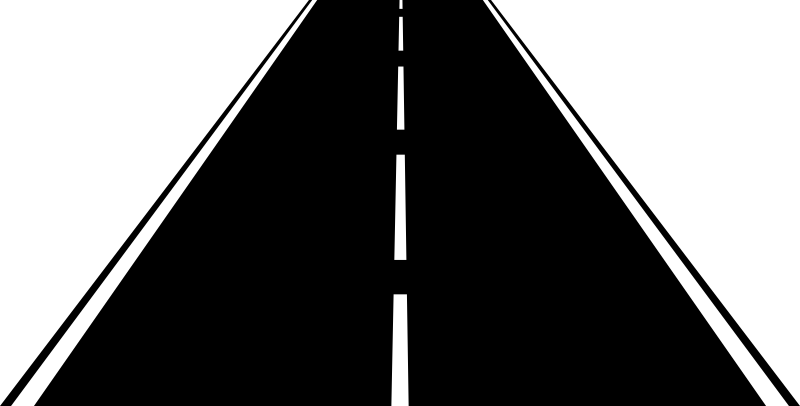 Highway by abadr - 2 lane highway illustration that can be used in signs or logos.