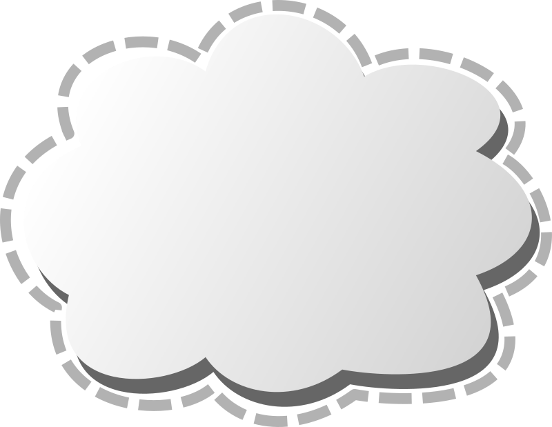 Cloud by gabe_anguiano - A gradient cloud which may be used for network clouds as the internet cloud.