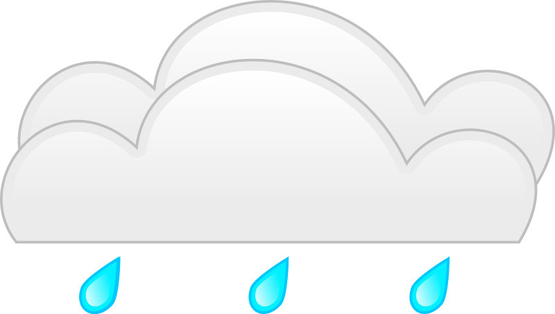 Clipart - overcloud rain