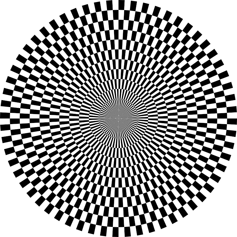 120gon chessboard tunnel by 10binary - 120gon chessboard tunnel with 60 pixel steps