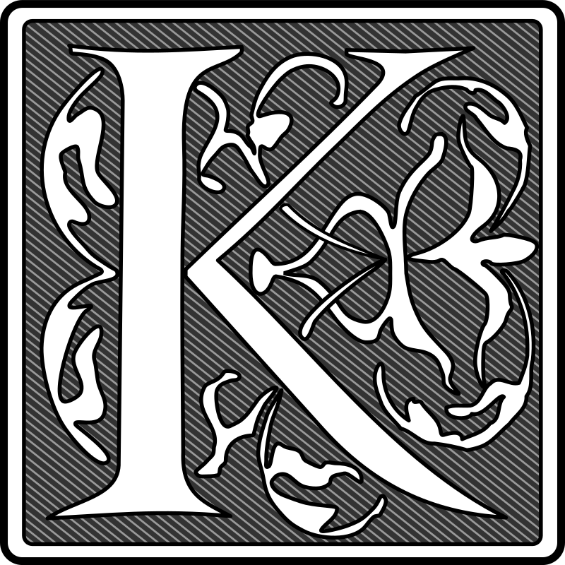 Remix of initial K by boobaloo - Remixed version with dark background. Looks more better at small sizes.