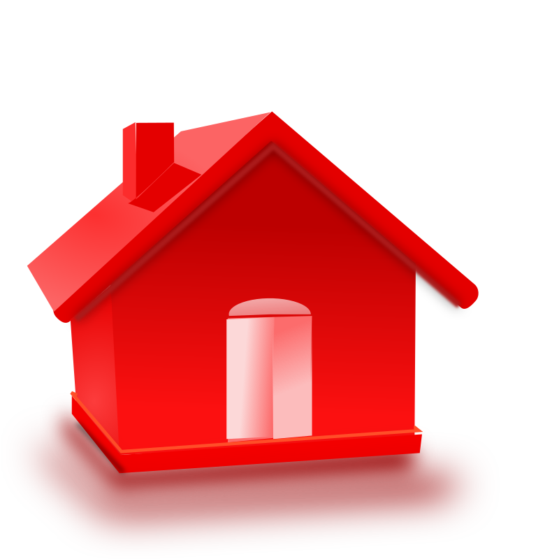 home by netalloy - A red home icon that looks photorealistic