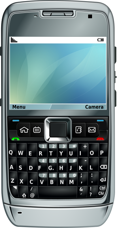 Smartphone e71 by Maddrum - E71 vetorizado no Inkscape em 2009. A smartphone of the old variety with keyboard.