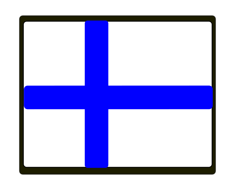 Finland Flag by Bubble-Man