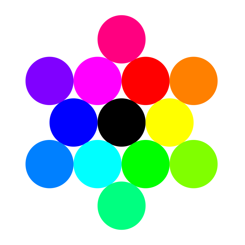 13 circles rainbow by 10binary - 13 circles rainbow