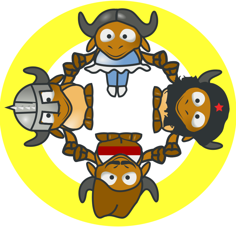 GNU Circle by milker - This is a gnu_circle. They are gnu cows by tonyk.