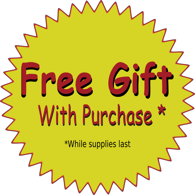 Free Gift by kc7rwx - Free gift with purchase clipart.