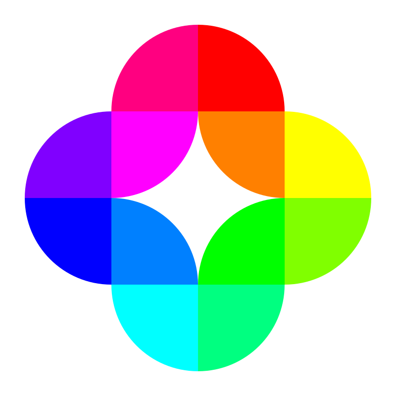 circle fourths 12 color by 10binary