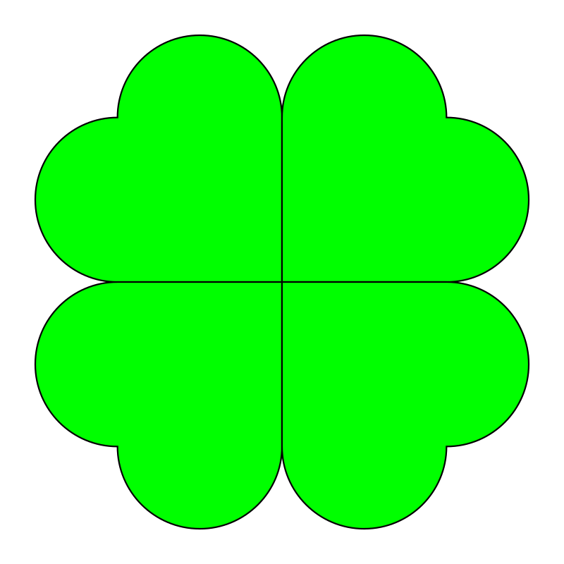 four leaf clover by 10binary - four leaf clover