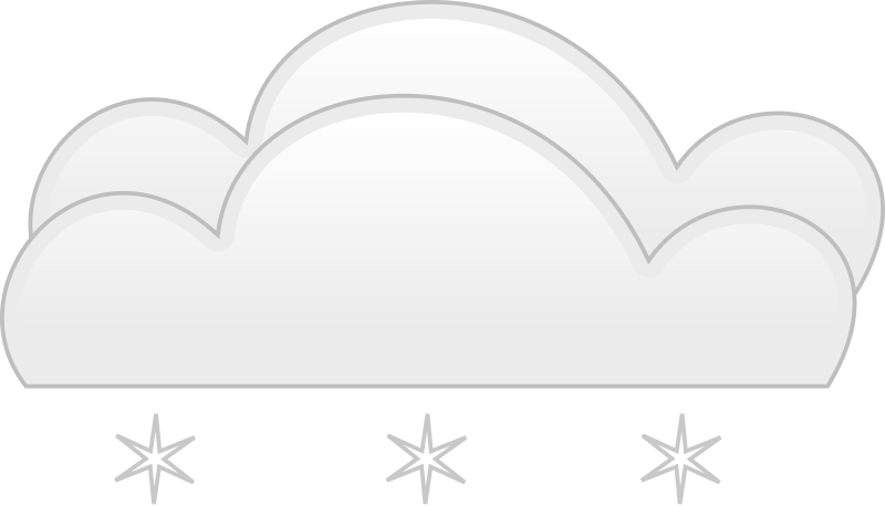 overcloud snow by spite - for weather application or map