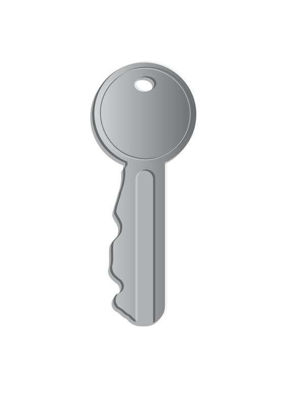 key by laurianne - A simple grey key drawn in Inkscape