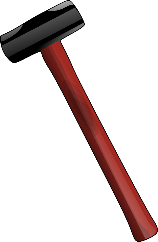 red_sledgehammer by halfhaggis - A sledgehammer with a red handle