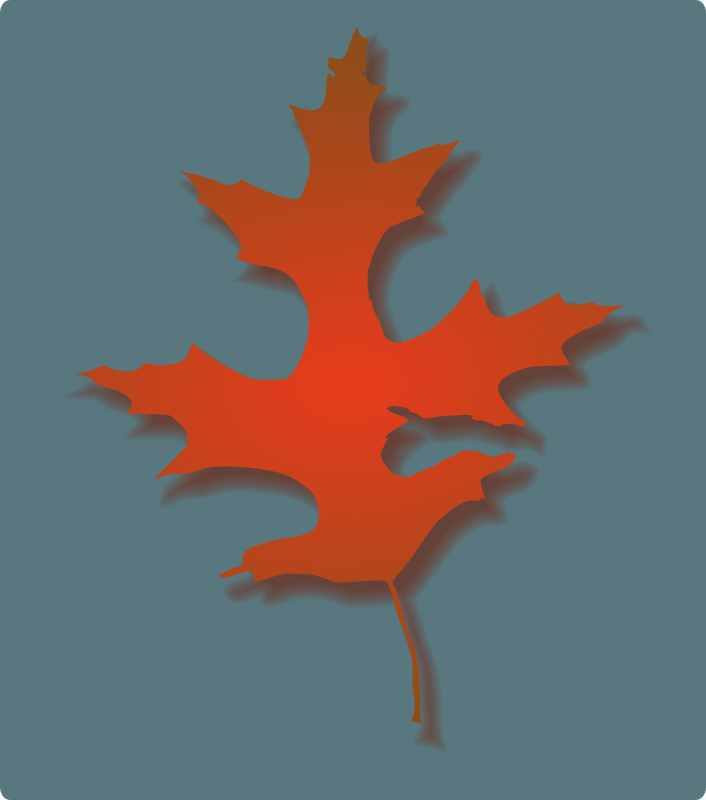 Oak Leaf - Autumn by rwwgub - Leaf and drop shadow are linked --unlink to shift shadow.