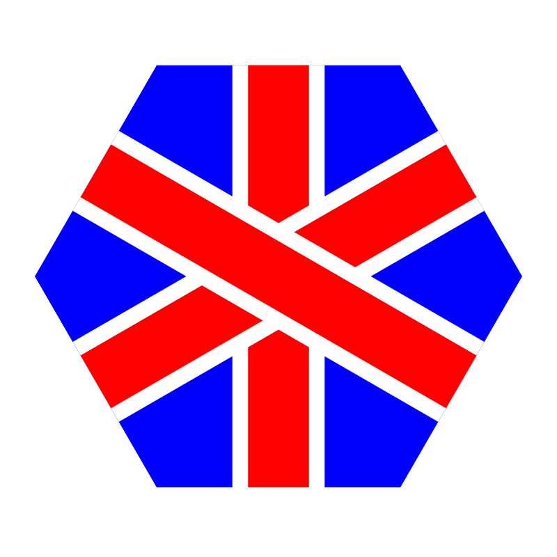 english hexagon by 10binary - Based off of the english flag but it's a hexagon.