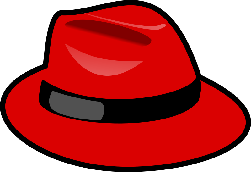 Red fedora by nicubunu - A fedora which is red. Not related at all to Red Hat or Fedora Project.