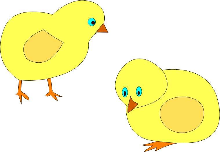 chickens-figure-color by lobaz.r - Vector clipart coloring on chickens. Transferred to the project, the author of the site www.ABC-color.com. I drew a vector editor for their children.