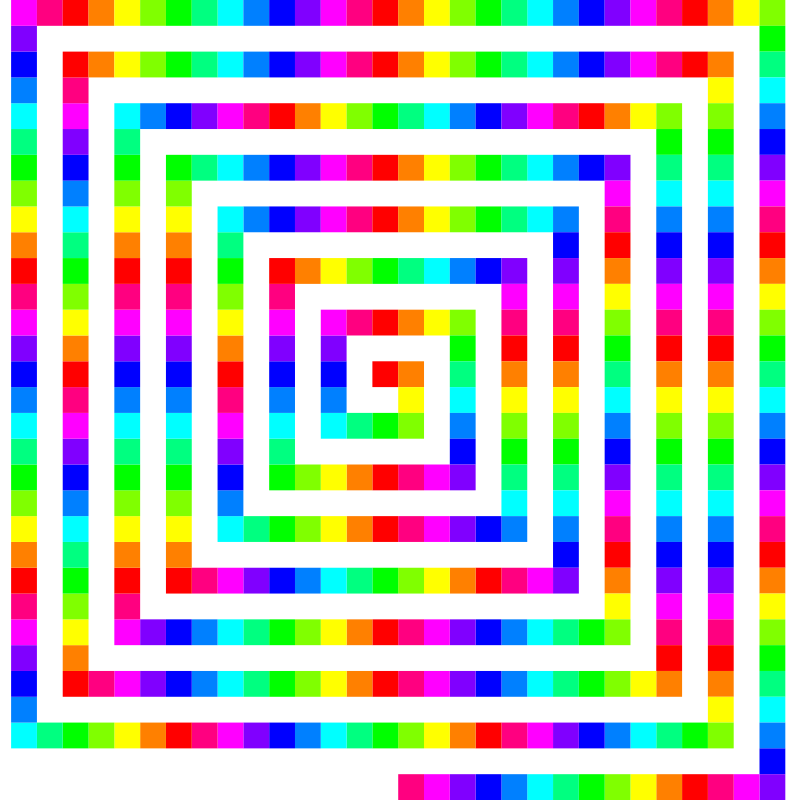 12 color 480 square spiral by 10binary - 12 color 480 square spiral