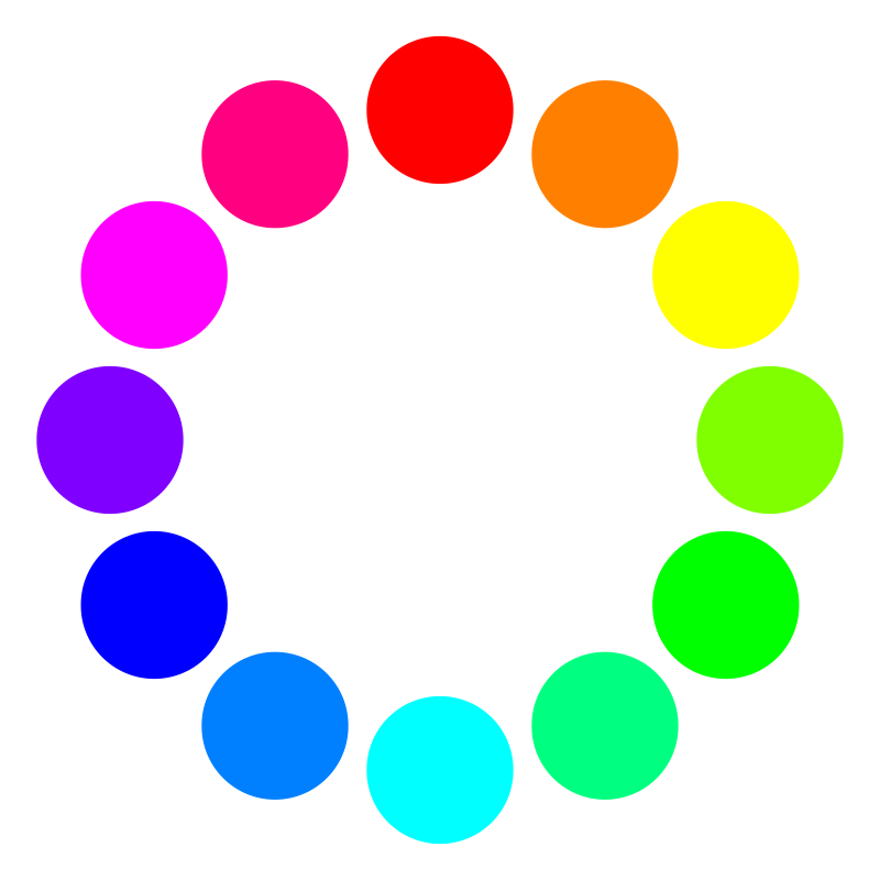 12 color circles by 10binary