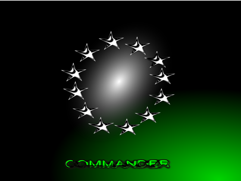 Commander Wallpaper by X-Ray - Testing chrome effect