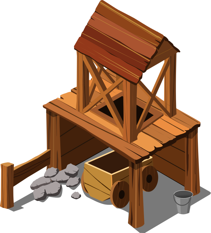 old mine by Chrisdesign - An old mine as if to be used in game like role playing game, RPG