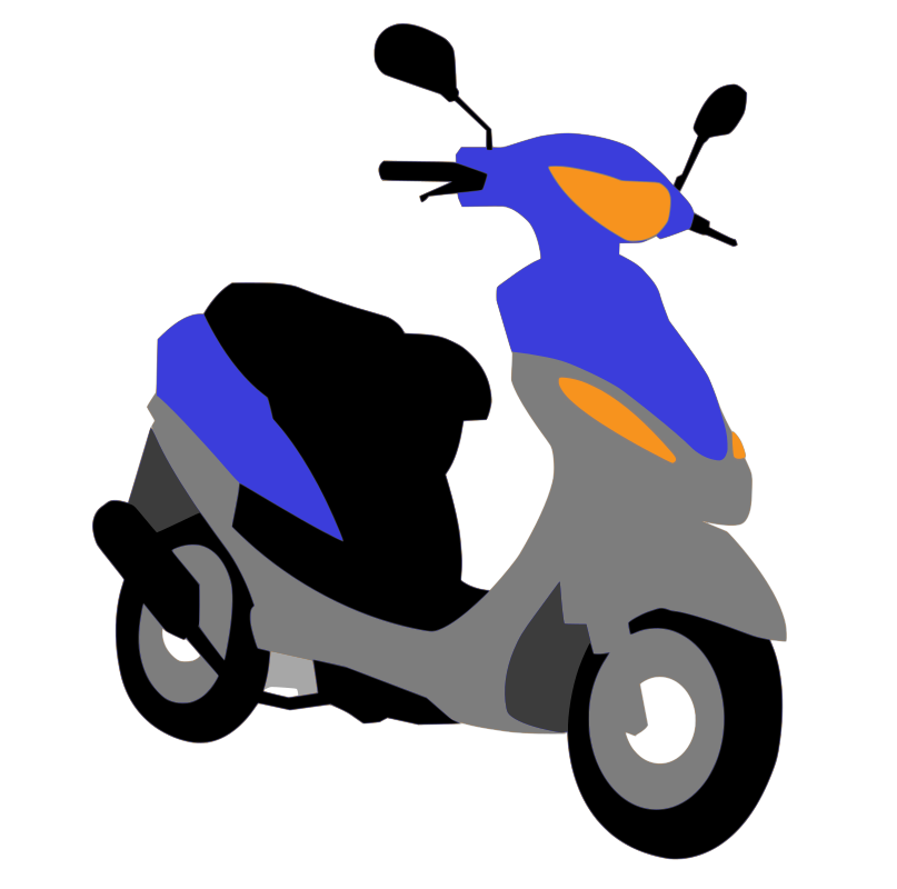 blue scooter by pearish