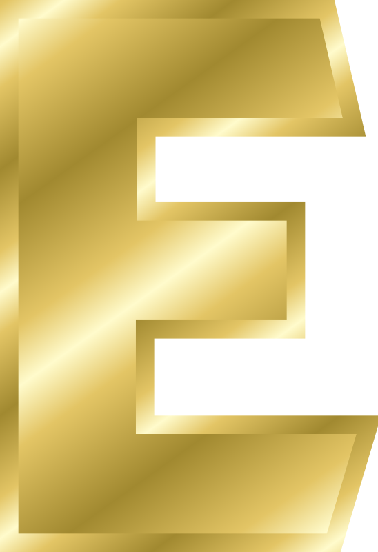 "Effect Letters alphabet gold by Chrisdesign - Note! Filling and outline were copied by ""style copy"" by the letter A. Thus if this is changed, all marked elements change themselv"