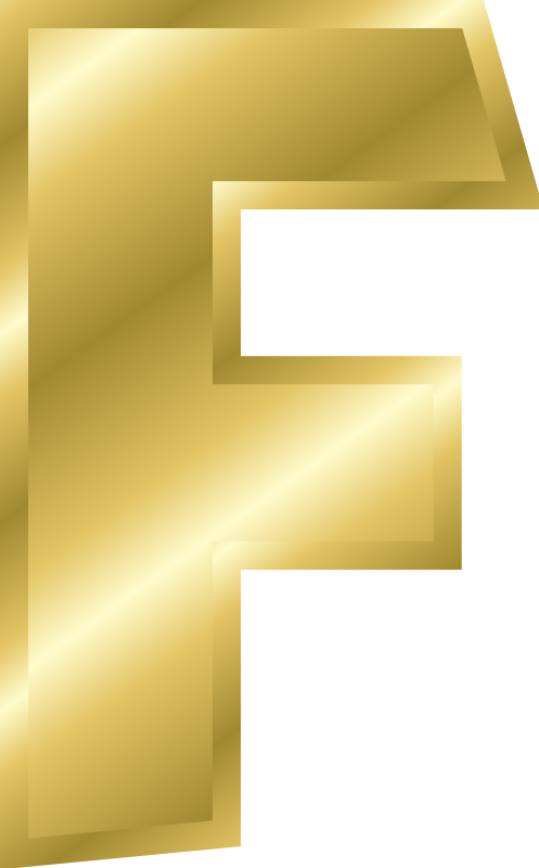 "Effect Letters alphabet gold by Chrisdesign - Note! Filling and outline were copied by ""style copy"" by the letter A. Thus if this is changed, all marked elements change themse"
