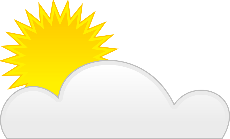 sun cloud by spite - for weather application or map
