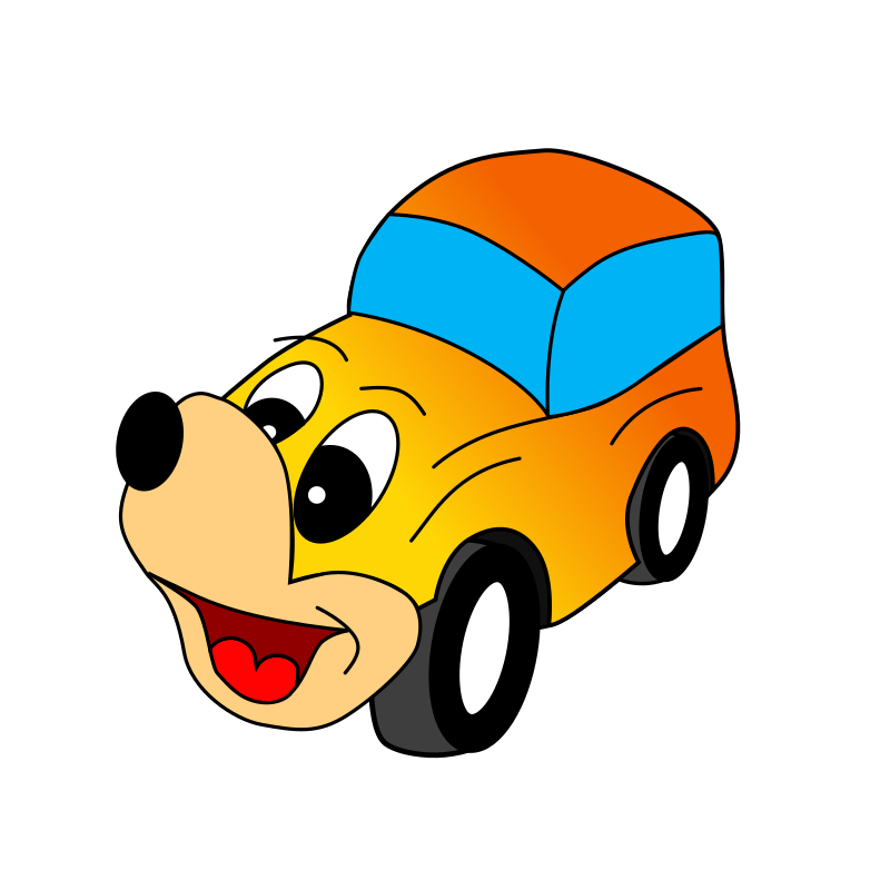Comic yellow car by roland81 - Yellow comic car