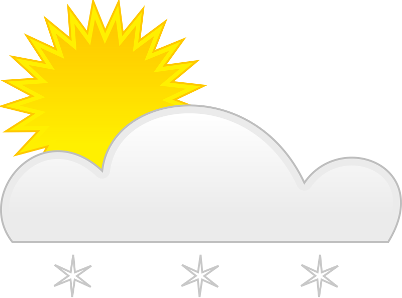 sun snow by spite - for weather application or map