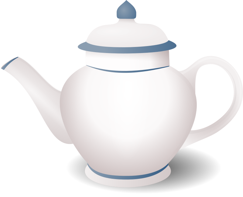 teapot by tatica - a simple teapot with a clean blue design (just lines)