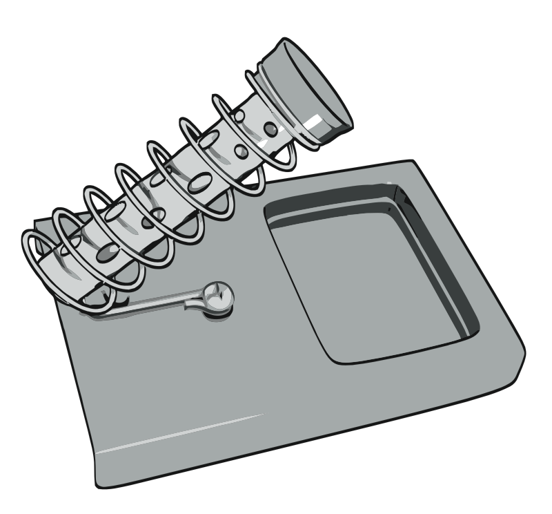 Soldering Iron Stand by hexdoll - Vectorised image of cartoon style 3d render of a soldering iron stand